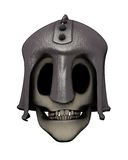 Skull in helmet Stock Photo