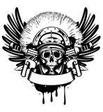 Skull in helmet. Vector image skull in helmet  and crossed sword Royalty Free Stock Photo