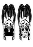 Skull in helmet. Vector image of skull in  helmet Royalty Free Stock Photo