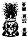 Skull in helmet. Vector image of skull in  helmet Royalty Free Stock Photography