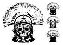 Skull in helmet Royalty Free Stock Images