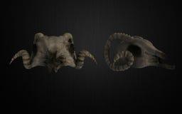 Skull helmet Stock Images