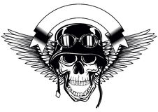 Skull in helmet with goggles Royalty Free Stock Photography