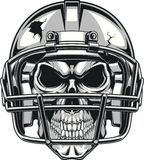 Skull in helmet