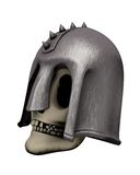 Skull in helmet, side view Stock Photo
