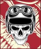 Skull helmet vector hand drawing royalty free illustration