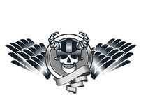 Skull in helmet Royalty Free Stock Photos