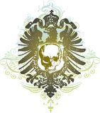 Skull heraldry illustration Stock Image