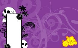 Skull hibiscus flowers background Royalty Free Stock Photos