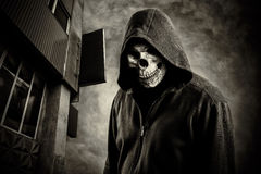 Skull in the hood royalty free stock photos