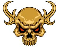 Skull with horn Stock Photos