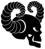 Skull with Horns Illustration Royalty Free Stock Images