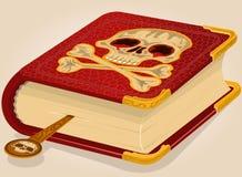 Skull horror book. Stock Image