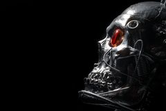 Skull of a human size robot Stock Photography