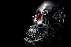 Skull of a human size robot Stock Photos