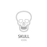 Skull icon. Flat style object. Art picture drawing. Eps 10. Stock Photo