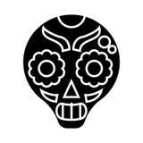 skull icon, vector illustration, black sign on isolated background vector illustration
