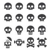 Skull icon set Royalty Free Stock Image