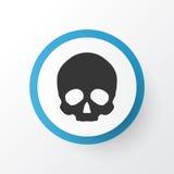 Skull Icon Symbol. Premium Quality Isolated Cranium Element In Trendy Style. Royalty Free Stock Photography