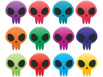 Skull Icons Stock Photo