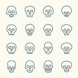 Skull icons Royalty Free Stock Image