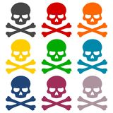 Skull icons on white background. Vector icon Vector Illustration