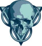 Skull Illuminati. Skull with triangles and circles Royalty Free Stock Photography