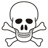 Skull illustration Royalty Free Stock Photo
