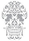Skull illustration in art nouveau style Stock Image