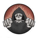 Skull illustration Stock Image