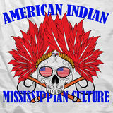 Skull Indian Fun Man T shirt Graphic Vector Design Royalty Free Stock Photo