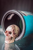 Skull inside the cover Stock Images