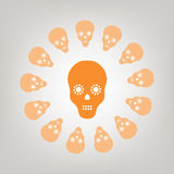 Skull isolated on the background Royalty Free Stock Images