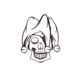 Skull in jester cap vector design Royalty Free Stock Photography