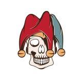 Skull in jester cap vector design Stock Image