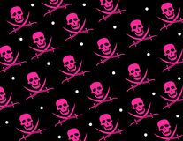 Skull Jolly Roger Repeat Pattern Royalty Free Stock Images