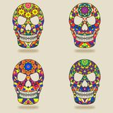 Skull with kaleidoscope pattern Stock Images