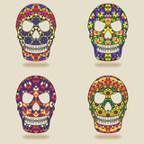 Skull with kaleidoscope pattern Stock Image