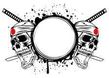 Skull kamikaze Stock Images