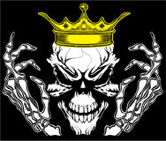 Skull King Poster Vintage Man T shirt Graphic Vector Design Stock Photos