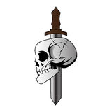 Skull and Knife. Vector illustration of Skull and knife Stock Image
