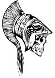 Skull in legionary helmet Royalty Free Stock Image