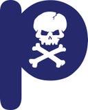 Skull Letter Royalty Free Stock Image