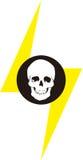 Skull & lightning design  Royalty Free Stock Photo