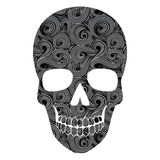 Skull Line Art Pattern Stock Images