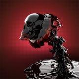 Skull in liquid royalty free illustration
