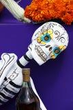 Skull and liquor I Stock Photo