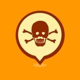 Skull location icon Royalty Free Stock Photography