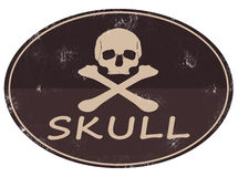 Skull logo icon. A modern webicon with a skull and bones Royalty Free Stock Photos