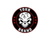 Skull logo, icon or skull illustration, vector of skeleton. Vector illustration perfect for any design purpose Royalty Free Stock Image